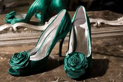 Brautschuhe satin einfarben